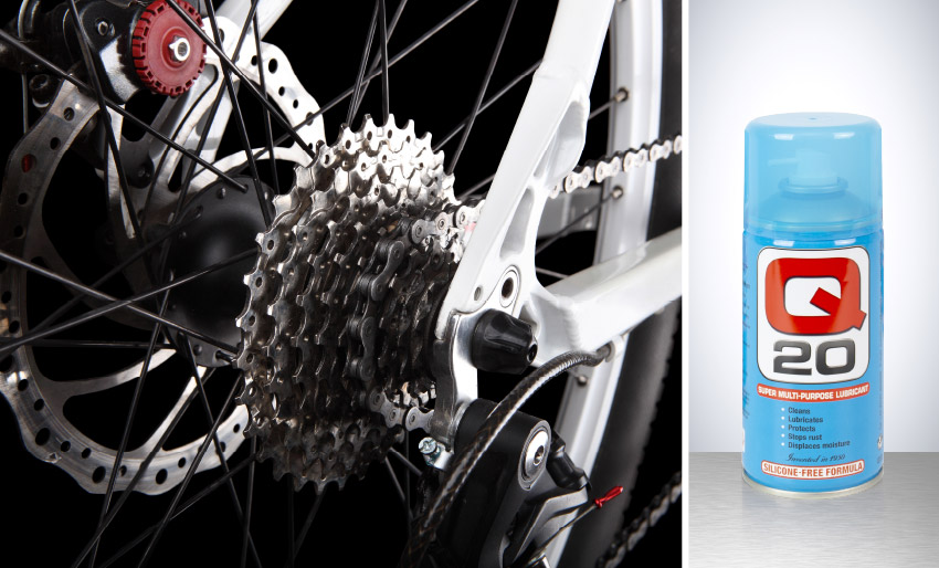 q 20 super multi purpose lubricant prevents rust displaces moisture auto motor accessory lubricate parts chains cogs bicycles motorcycles cars tiltrak.jpg