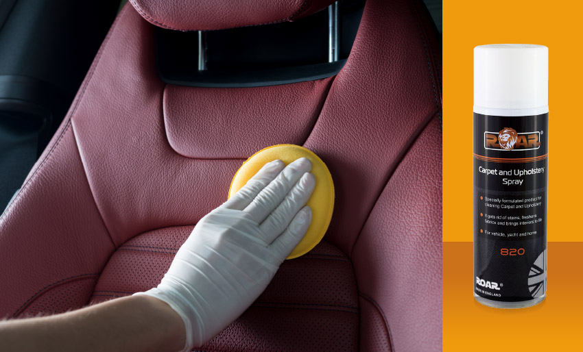 roar advanced finishing vehicle cabin upholstery interior carpets cabin cleaning leather car detailing valeting clean products