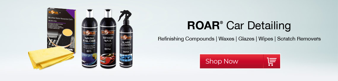 roar car detailing polishing refinishing compounds waxes glazes wipes scratch remover wax polish gloss finish shine glass cleaner upholstery cleaner uk