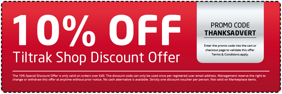 thank you special offer discount offer voucher advert upload page tiltrak motor accessories shop