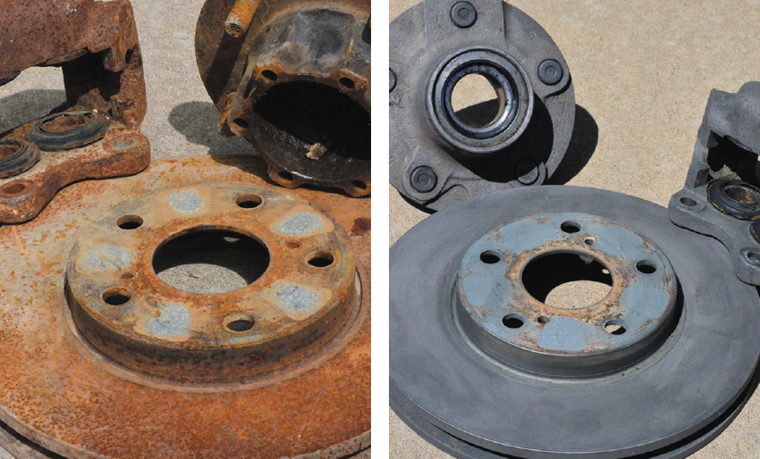 before after rust remover vehicle car parts components rusty corrosion submerge in evaporust bath alloy steel tools tiltrak review