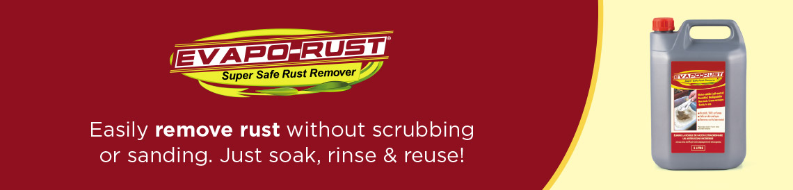 evapo rust super safe rust remover no scrubbing or sanding environmentally friendly reusable product buy in tiltrak store