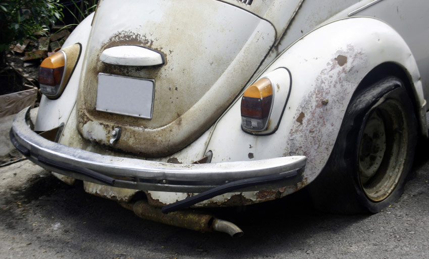 classic VW beetle restoration project replacement parts components repair specialists engine bodywork rusting prevention