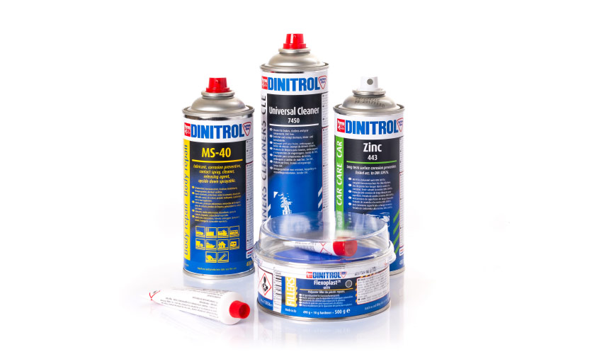 dinitrol vehicle body repair products body fillers zinc paint primer lubricants bonding sealing adhesives alusoft flexoplast official dinitrol product stockist